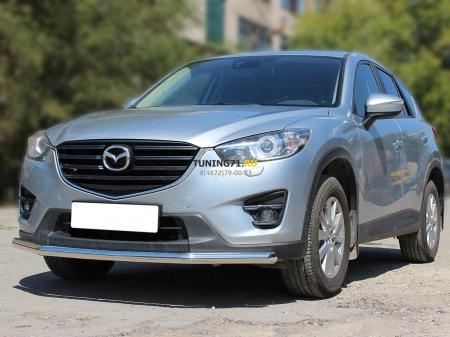 Mazda СX-5 2015-наст.вр.-Защита переднего бампера одинарная d-60